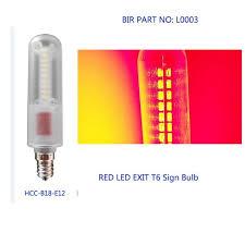 2pcs lot white 0 6w e12 emergency exit sign led bulb light