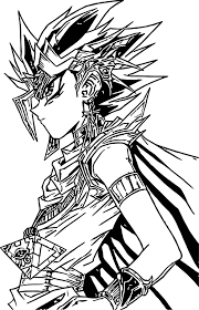 Yu Gi Oh Look Coloring Page