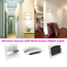 led wall light wireless aluminum home lighting bright motion