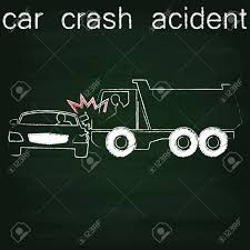 100 Chalks Truck Parts Sign For Car Crash Accident On Side Collision Between Cars And