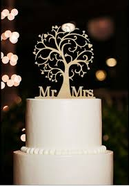 Mr And Mrs Cake Topper Wood Cherry Blossom Tree Rustic Wedding Decorations Free