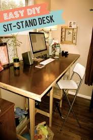 tired of sitting down diy your own standing desk with kee klamp