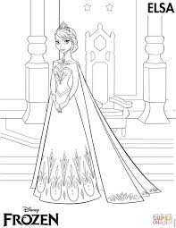 Frozen Coloring Pages Elsa From The Page Free Printable
