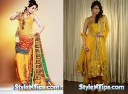 Mehndi Dresses 2017 Latest Collection For Women