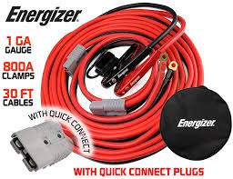 100 Tow Truck Jumper Cables Amazoncom Energizer 1Gauge 800A Permanent Installation Kit