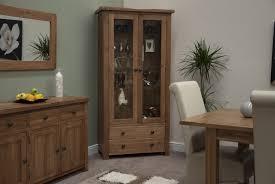 cotswold solid oak glazed display unit furniture4yourhome