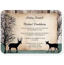 Rustic Deer Woodsy Reception Only Invitations At Artistically Invited