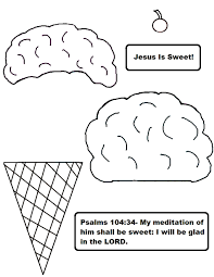 Ice Cream Cone Activity Sheet Jesus Is Sweet Color Or Black White