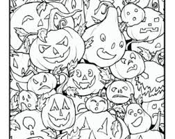 Pumpkin Patch Coloring Pages by Pumpkin Color Page Etsy