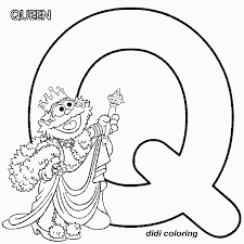 Printable Preschool Alphabets Uppercase Letter Q Queen Coloring Page For Kids