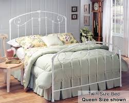Astonishing Bedroom Decoration With White Rod Iron Bed