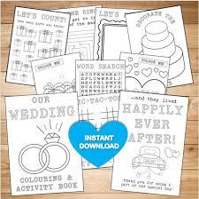 Kids Wedding Colouring Activity Book