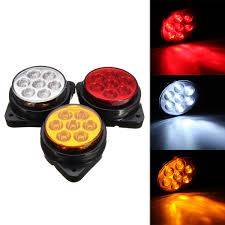 100 Truck Marker Lights Car Round 7 LED Side Indicator Clearance Replacement Lamp Trailer