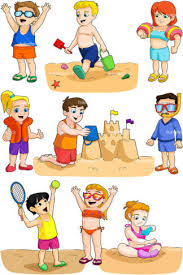 Kids At The Beach PNG