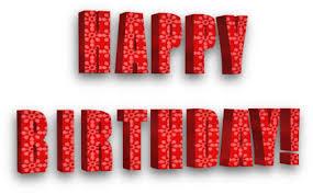 Happy Birthday 3D red