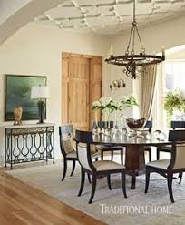 Phillip Sides Added Plaster Tracery On The Ceiling Of This Alabama Dining Room To Create A Designer RugsContemporary