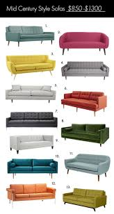 Darrin Leather Sofa Jcp by The Ultimate Mid Century Style Sofa Guide U2013 A Beautiful Mess