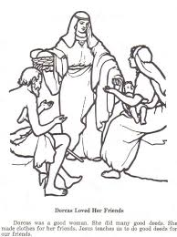 Dorcas Coloring Page In New Testament She Made Clothes For The Poor