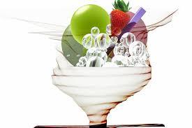Digital Art Ice Cream Sundae Fruity Dessert