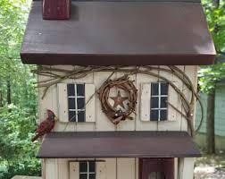 Farmhouse Primitive Birdhouse Rustic Functional Amish
