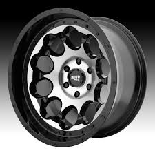 100 Moto Wheels Truck Metal MO990 Rotary Machined Black Custom Rims