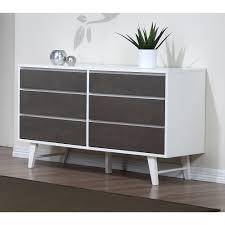 Johnson Carper White Dresser by Madrid Light Charcoal 6 Drawer Dresser By I Love Living Dresser