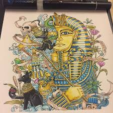 Awesome Acient Egypt Colouring Page Which Was Coloured By Guigui304 With Their Chameleon Pens PagesColoring BooksAdult