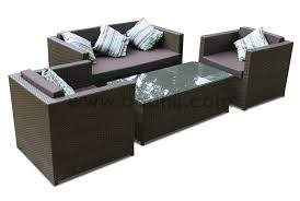 ESR7144 1 Two Seater Sofas 2 Single Pillows And Table With 5mm Glass