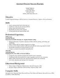 Examples Of Skills On Resumes A Resume Objective