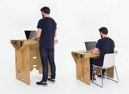 Refold s Portable Cardboard Standing Desk