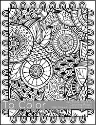 Printable Coloring Pages For Adults All Over Large Doodle Pattern PDF JPG