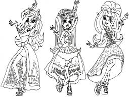 Monster Hi Fabulous High Characters Coloring Pages