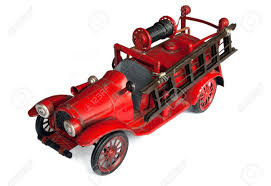 100 Antique Toy Fire Trucks Engine Isolated On White Stock Photo Picture And