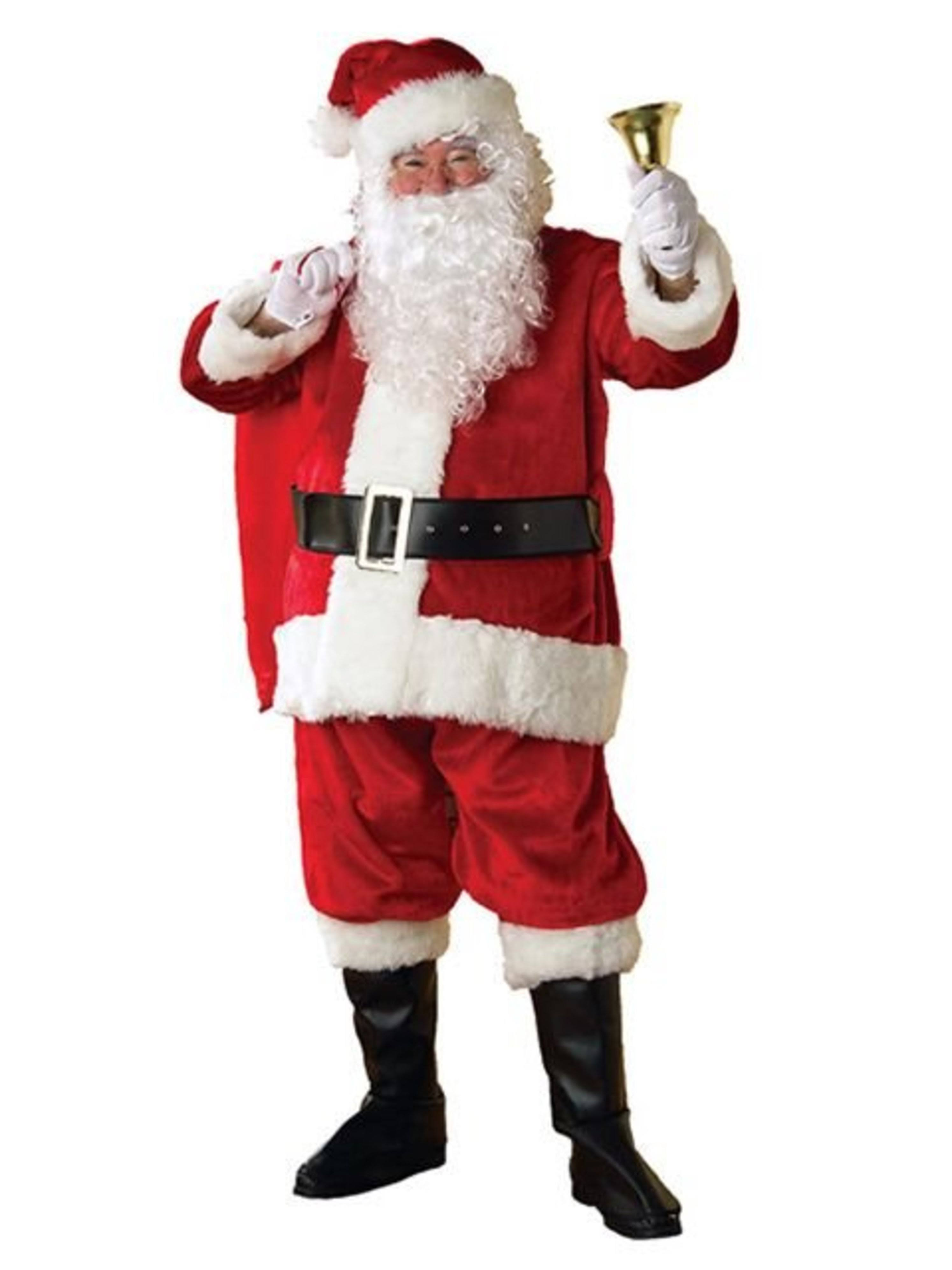 Rubie's Costume Adult Men's Regency Plush Santa Claus Christmas Suit - Standard Size