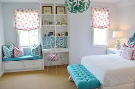 Pale Blue Is The Right Paint Colors For A Teenage Girls Bedroom Witj White Furnishing And Ottoman