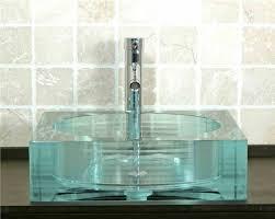 square glass vessel sinks decorative glass vessel sinks for