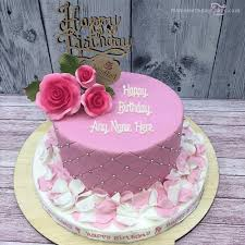Petals Birthday Cake With Name
