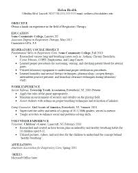 Sample Resume For Massage Therapist Respiratory Examples Example Of Functional