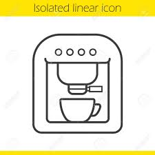 Coffee Machine Linear Icon Espresso Thin Line Illustration Maker Contour Symbol