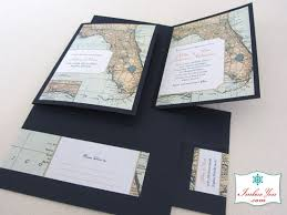 Florida Wedding Invitation With Map