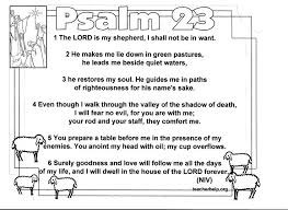 Psalm 23 Coloring Sheet Is Available In NIV KJVand NVIespanol