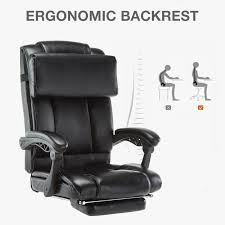 BN Executive High Back Reclining Office Chair Ergonomic Footrest For ... Recliner 2018 Best Recling Fice Chair Rustic Home Fniture Desk Is Place To Return Luxury Office Chairs Ergonomic Computer More Buy Canada On Wheels 47 Off Wooden Casters Sizeable Recling Office Chairs Lively Portraits The 5 With Foot Rest In Autonomous 12 Modern Most Comfortable Leg Vintage Wood Outrageous High Back Bonded Leather Orthopedic Of Footrest Amazoncom Gaming Racing Highback