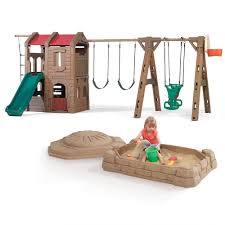 Searsca Patio Swing by Adventure Lodge Play Center With Glider And Sandbox Combo Kids