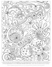 Free Abstract Coloring Page To Print Detailed Psychedelic Inside Printable