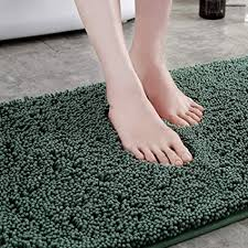 badematte verdickt chenille badteppich anti rutsch badematten saugfähig badvorleger weich hochflor badezimmerteppich schnelltrocknend teppich für