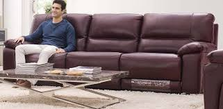 Donatella Italian Leather Reclining Sofa View in Your Room