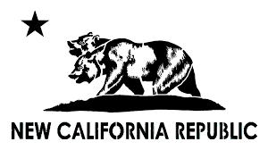 Stencil Of The New California Republic Flag By DeathBySafety