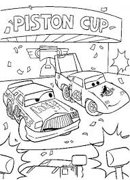 Chick Hicks And The King Of Disney Cars Printable Coloring Page