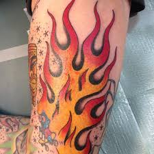 45 Hot Burning Flame Tattoo Designs For Men And Women