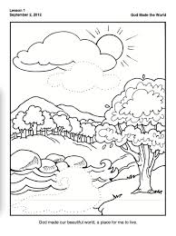 Creation Coloring Pages Day 7 Days Of Printable Inside Free